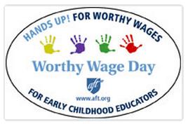 Worthy Wage Day logo, AFT